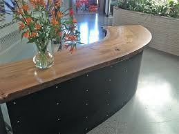 Reclaimed Wood Reception Desk Reception Desk Ideas Spaces Modern With Wood Countertop Wood