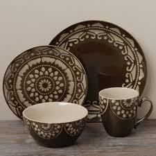 gallery tableware tabletop gallery u0027moroccou0027 brown 16