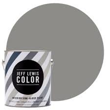 Home Depot Gray Paint by Jeff Lewis Color 1 Gal Jlc415 Gray Geese Semi Gloss Ultra Low