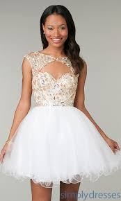 prom dresses white and gold short long dresses online