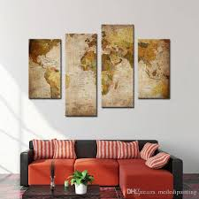 home goods art decor amosi art canvas prints wall art decor retro world map abstract