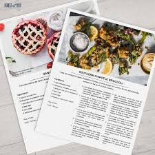 29 images of homemade cookbook template capcontent com