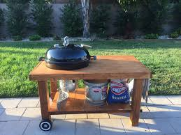 how to build a weber grill table weber kettle table diy webergrills