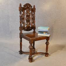Antique High Back Chairs Antique Chair Oak Tall High Back Drawing Room Victorian English