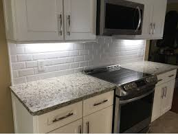 X Subway Tile Backsplash Kitchen Backsplash In A White X - Beveled subway tile backsplash