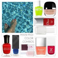 color combos vanity report summer mani pedi color combos