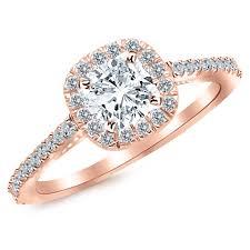 1 carat engagement rings certified 1 carat cushion cut halo diamond engagement ring 0 7