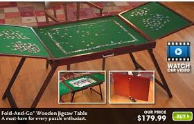 Jigsaw Puzzles Tables Fold And Go Puzzle Table Indydeals Biz