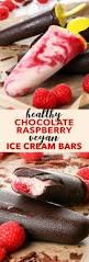 chocolate raspberry dessert healthy chocolate u0026 raspberry vegan ice cream bars the loopy whisk