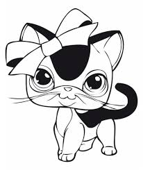 littlest pet shop coloring pages cat coloringstar