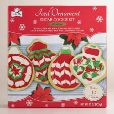 iced ornament sugar cookie kit set of 2 world market