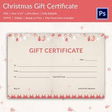 christmas gift certificate templates 21 psd format download