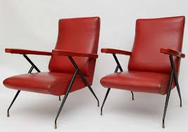 Red Leather Reclining Chair Vintage Italian Reclining Chairs For Sale At 1stdibs