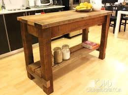 Free Wood Workbench Designs by 11 Free Kitchen Island Plans For You To Diy