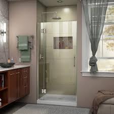 Shower Door 36 Dreamline Unidoor X 36 In X 72 In Frameless Hinged Shower Door