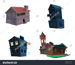 cartoon images of types of houses house and home design