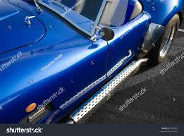 Classic American Muscle Cars - blue classic american muscle car chrome stock photo 7020037