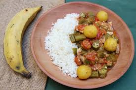 recette de cuisine cubaine quimbombo ragoût de gombos aux quenelles de banane plantain comme