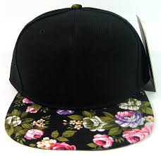 wholesale floral snapback hats blank plain caps green bulk