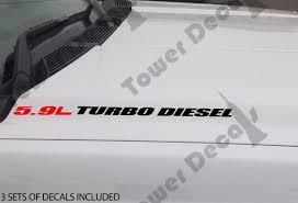 Dodge Ram Decals - 5 9l turbo diesel hood sticker decals emblem vinyl 4x4 fits dodge