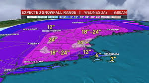 Boston Snow Total Map by Historic Potentially Life Threatening Storm En Route Necn