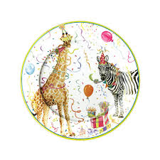 Wicker Paper Plate Holders Wholesale Party Animals Paper Salad U0026 Dessert Plates 8 Per Package Caspari
