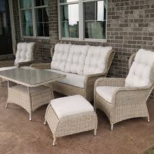 wicker outdoor sofa charleston way 5 piece outdoor wicker patio sofa set with table