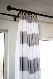 wide stripe curtain panels top beautiful light grey horizontal