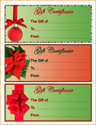 7 christmas gift certificate template free download memo templates