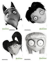 frankenweenie printable halloween masks 100 directions