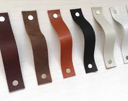 leather drawer pulls etsy