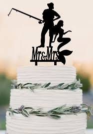 fisherman cake topper wedding decorations fisherman and mermaid cake topper