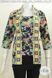 desain baju batik halus batik blus desain terbaru model kutubaru baju batik keren buatan