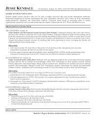 account executive resume account executive resume exles resume for study