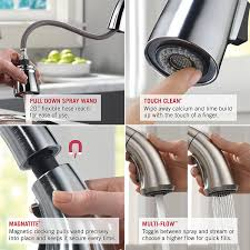 Touch Free Faucets Kitchen Decorating 9192t Sssd Dst Touch Kitchen Faucet Delta Delta