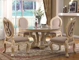 Great Round Pedestal Dining Room Table  Housphere - Round pedestal dining table in antique white
