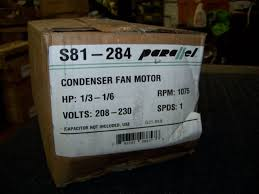 48y frame fan motor parallel condenser fan motor 1 3 1 6 hp 208 230v 1075 rpm 1 ph 48y