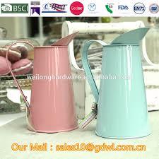 vintage water jug metal tin home decor pitcher water filter jug
