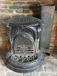 antique cast iron french open fireplace complete gc in