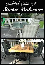 Glass Patio Table Set Home Decor How To Update An Outdated Outdoor Furniture