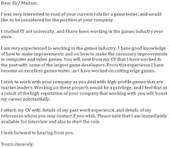 Game Tester Resume Sample by Game Tester Cover Letter Example Learnist Org