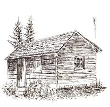 log cabin drawings pictures log cabin sketches drawing art gallery