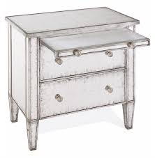 Silver Leaf Nightstand Katelyn Hollywood Regency Silver Leaf Mirror 2 Drawer Nightstand