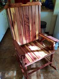 Rocking Chair Scary Pop Up Red Cedar Rocking Chair Totally My Own Design Somethingimade