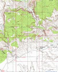 Topography Map Topographic Map Of Farnsworth Canyon San Rafael Swell Utah