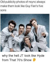 Nsync Meme - old publicity photos of nsync always make them look like guy