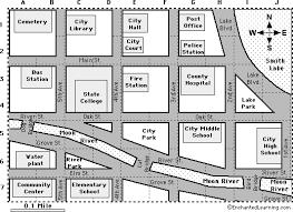 map reading practice city map reading activity printout 1 enchantedlearning com