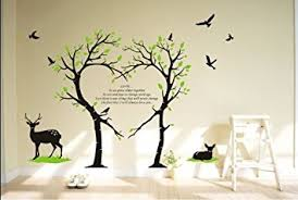 Deer Wall Decor Amazon Com Tree Deer Wall Decal Love Tree Bird Wall Decal Tree