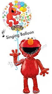 singing birthday elmo birthday ii singing airwalker balloon bouquet 2 balloons