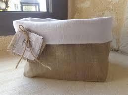 style campagne chic corbeille en lin et chanvre style campagne chic meubles et